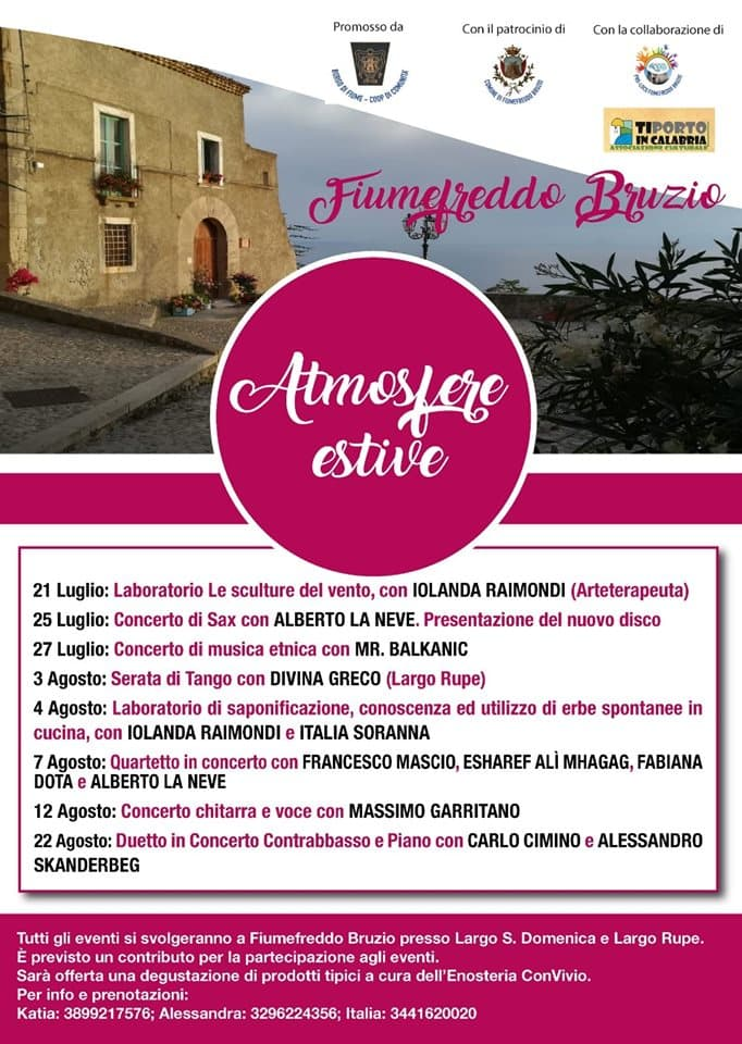 Atmosfere Estive a Fiumefreddo estate 2019 locandina