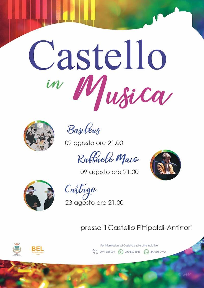 Castello Fittipaldi-Antinori di Brindisi Montagna cornice dei giovani artisti lucani Agosto 2019 locandina