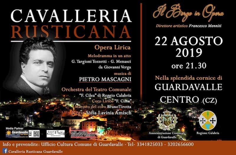 Cavalleria Rusticana 22 Agosto 2019 a Guardavalle locandina