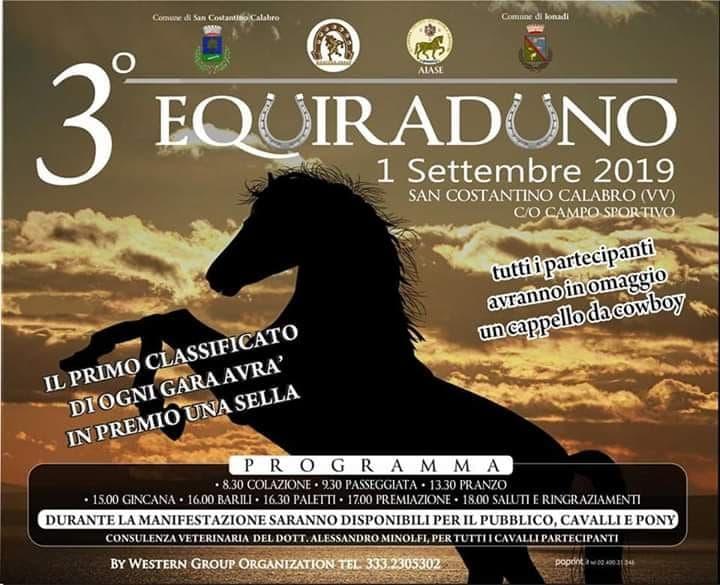 Equiraduno 1 Settembre 2019 a San Costantino Calabro locandina