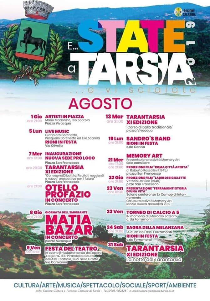 Estate a Tarsia 2019 locandina