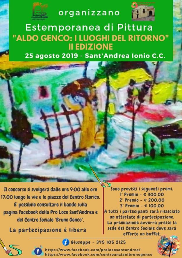 Estemporanea di pittura a Sant'Andrea Apostolo dello Ionio 25 agosto 2019 locandina
