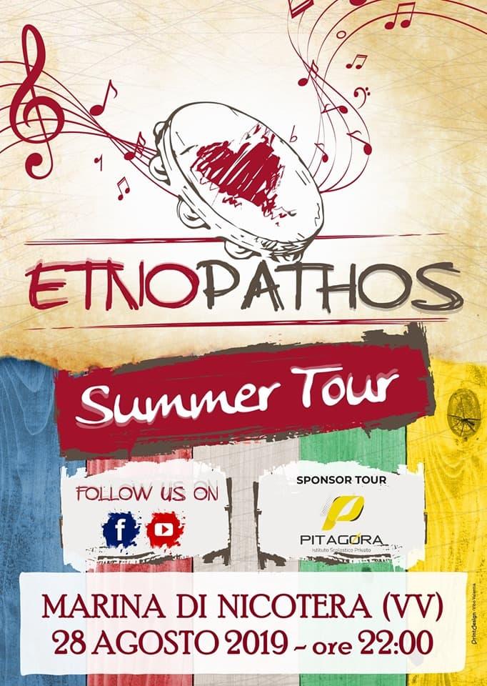 Etno Pathos Live - Marina di Nicotera 28 Agosto 2019 locandina