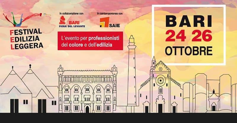 FEL Festival Edilizia Leggera 24 Ottobre 2019 a Bari locandina