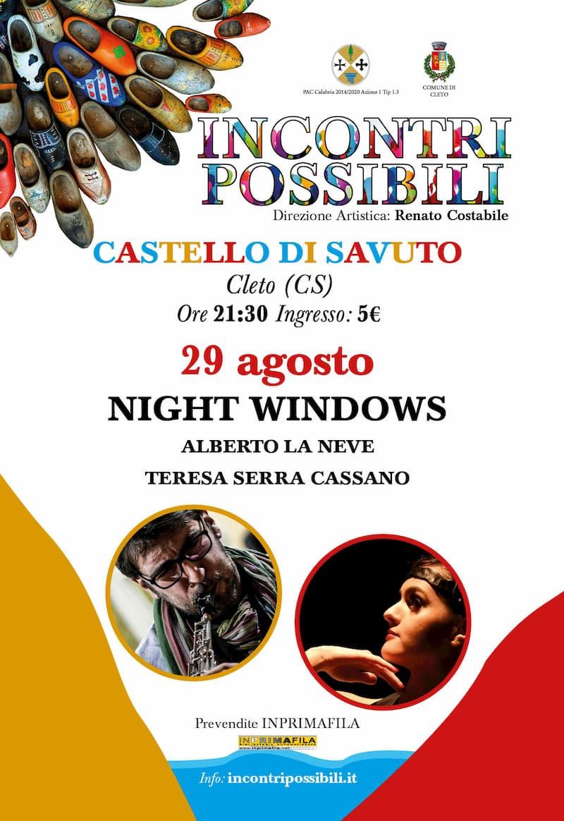 Incontri Possibili Alberto La Neve e la danzatrice Teresa Serra Cassano 29 agosto 2019 a Cleto locandina