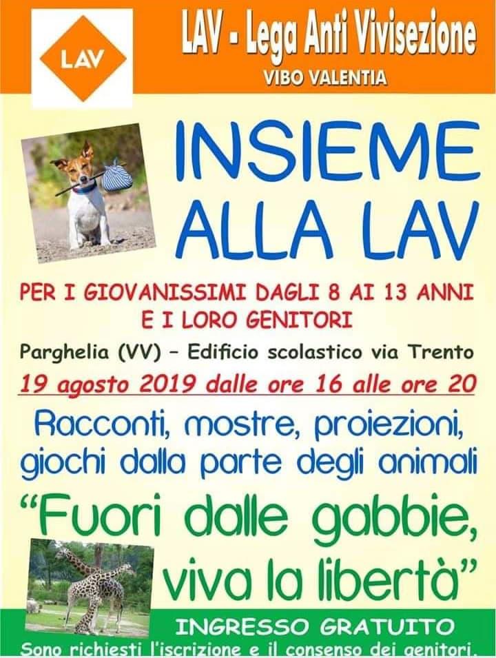 Insieme alla Lav 19 Agosto 2019 a Parghelia locandina