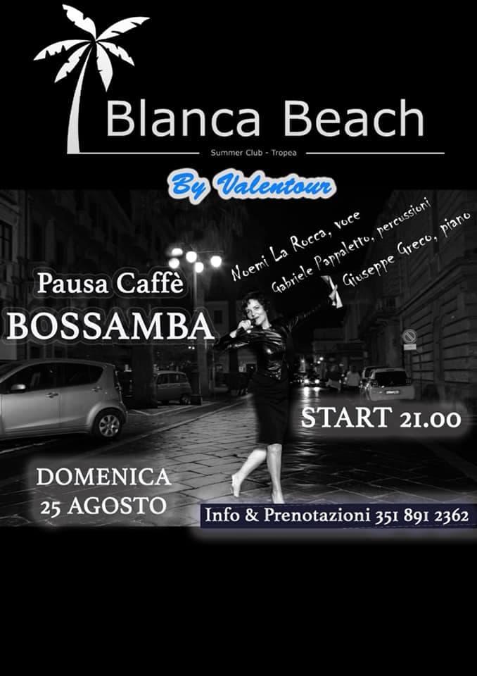 Live Music 25 agosto 2019 al Blanca Beach a Tropea locandina
