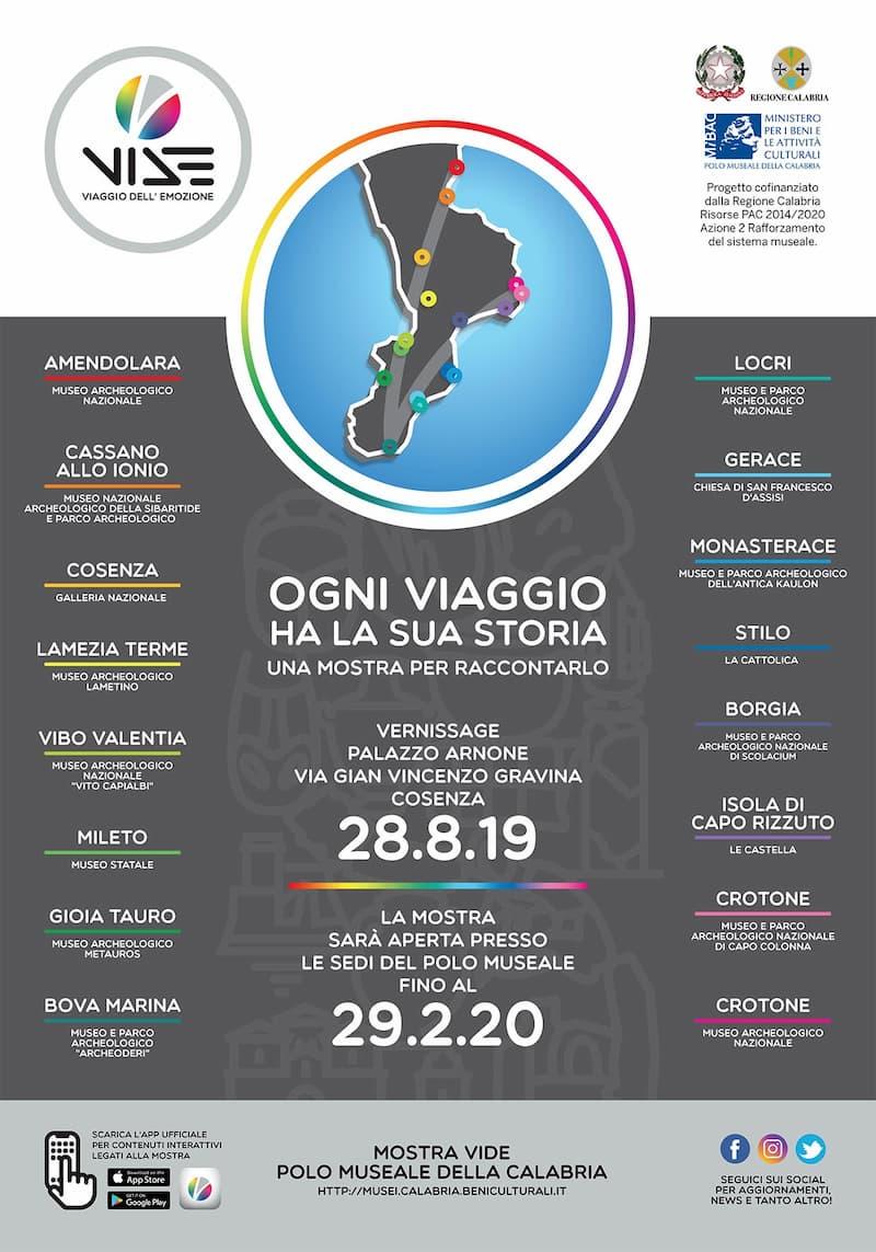 MOSTRA VIDE Viaggio Dell'Emozione 28 e 29 agosto 2019 Calabria locandina
