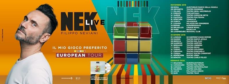 Nek European Tour 2020