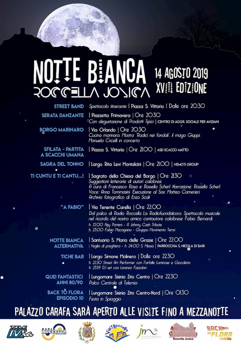 Notte Bianca a Roccella Jonica 14 Agosto 2019