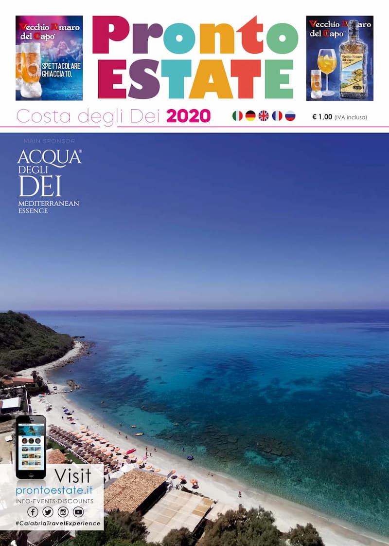 Pubblicata la guida turistica Pronto Estate Costa degli Dei 2020