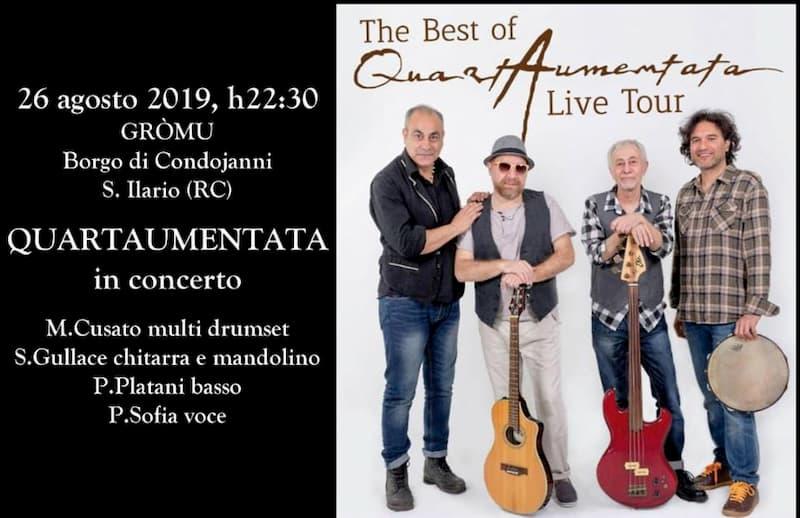 QuartAumentata in concerto 26 agosto 2019 a Condojanni Sant'Ilario dello Ionio locandina