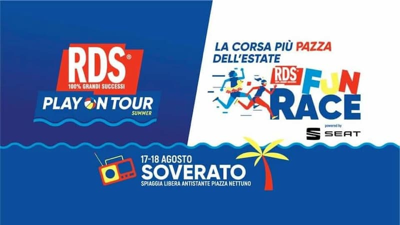 RDS Play On Tour Summer 17 18 Agosto 2019 a Soverato locandina