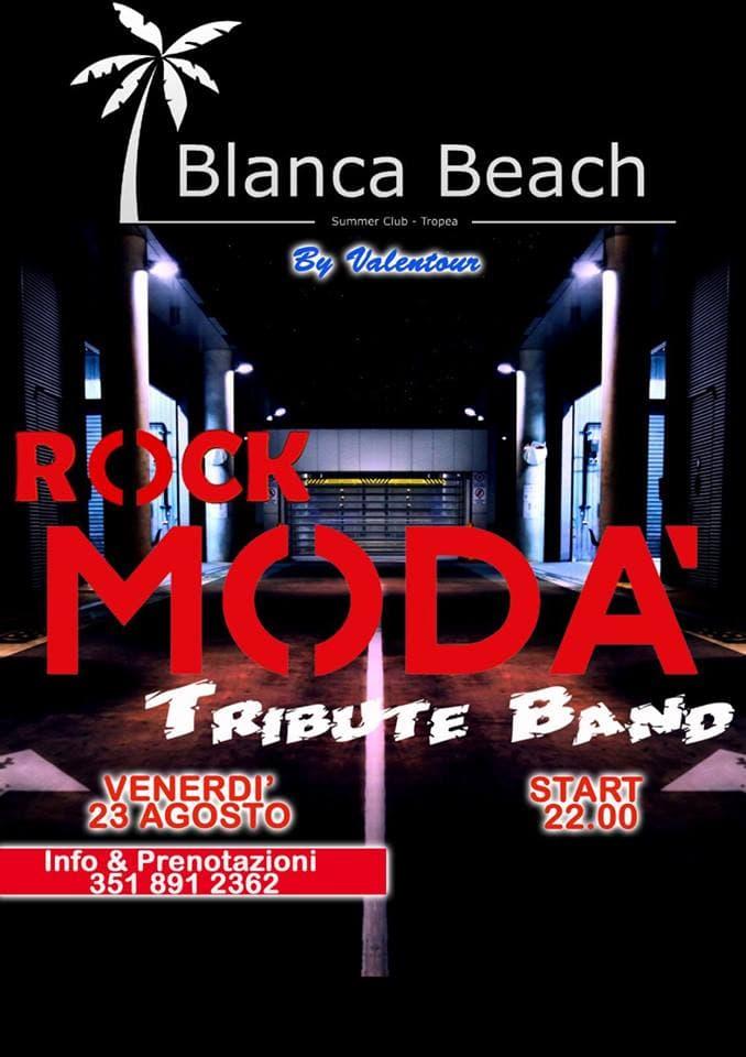 Rock Modà Tribute Band Live al Blanca Beach 23 agosto 2019 a Tropea locandina