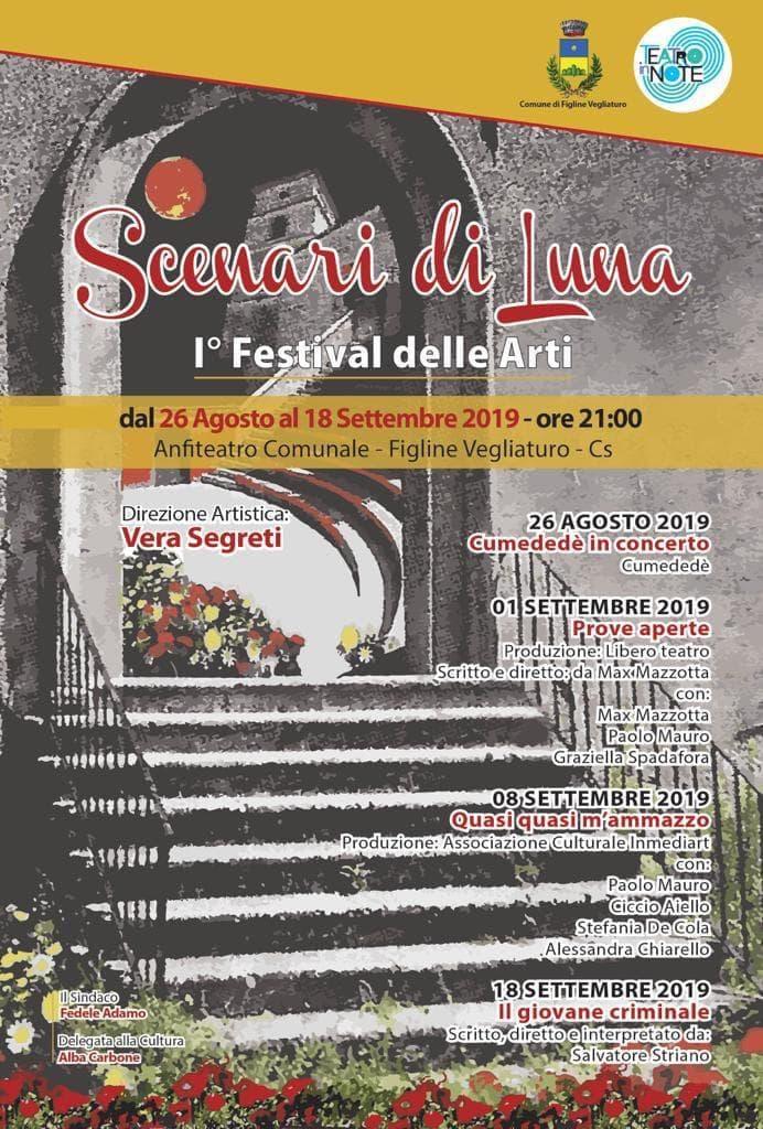 Scenari di luna - festival delle arti a Figline Vegliaturo 26 Agosto 18 Settembre 2019 locandina