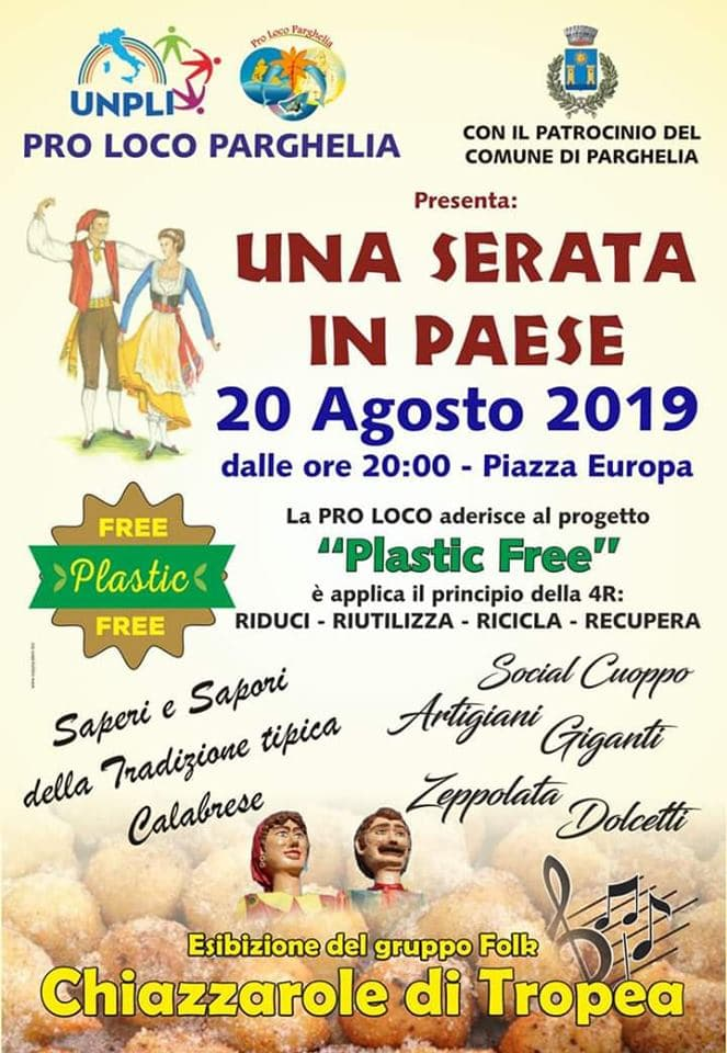Una serata in paese 20 agosto 2019 a Parghelia locandina