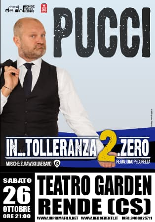Andrea Pucci 26 Ottobre 2019 al Teatro Garden di Rende locandina
