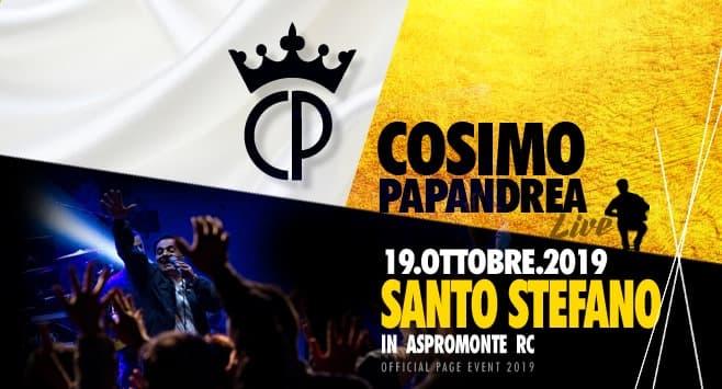 Cosimo Papandrea Live a Santo Stefano in Aspromonte 19 Ottobre 2019 locandina