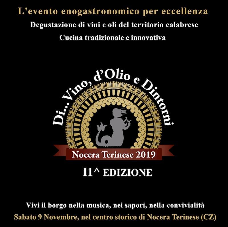 Divino d'olio e dintorni Sabato 9 Novembre 2019 Centro Storico Nocera Terinese locandina