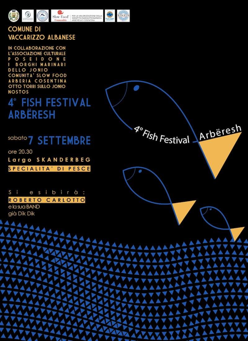 Fish Festival Arbëresh 7 settembre 2019 a Vaccarizzo Albanese locandina