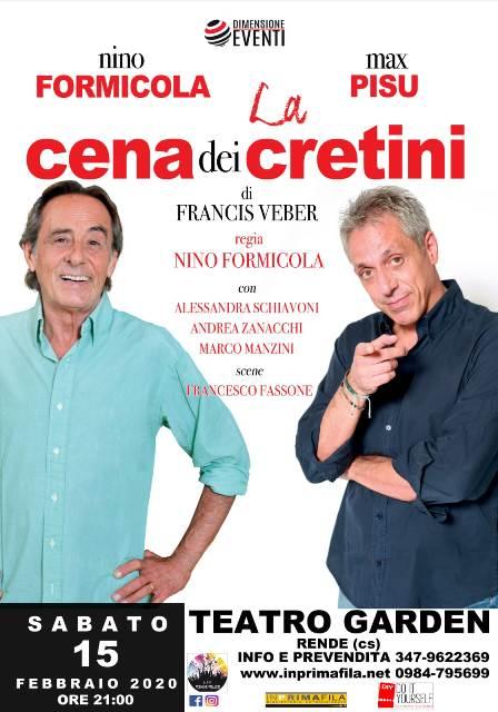 La cena dei cretini con Nino Formicola e Max Pisu 15 febbraio 2020 a Rende locandina