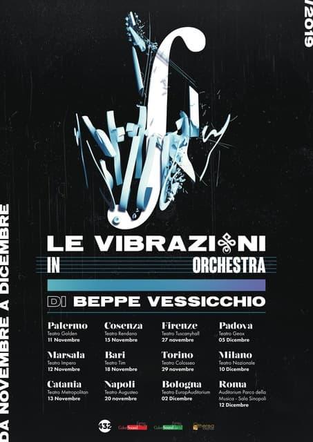 Le Vibrazioni inorcchestra di Beppe Vessicchio 15 Novembre 2019 a Cosenza locandina
