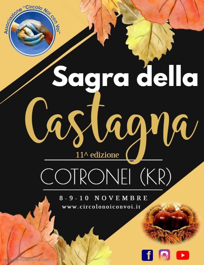 Sagra della Castagna a Cotronei 8 9 10 Novembre 2019 locandina