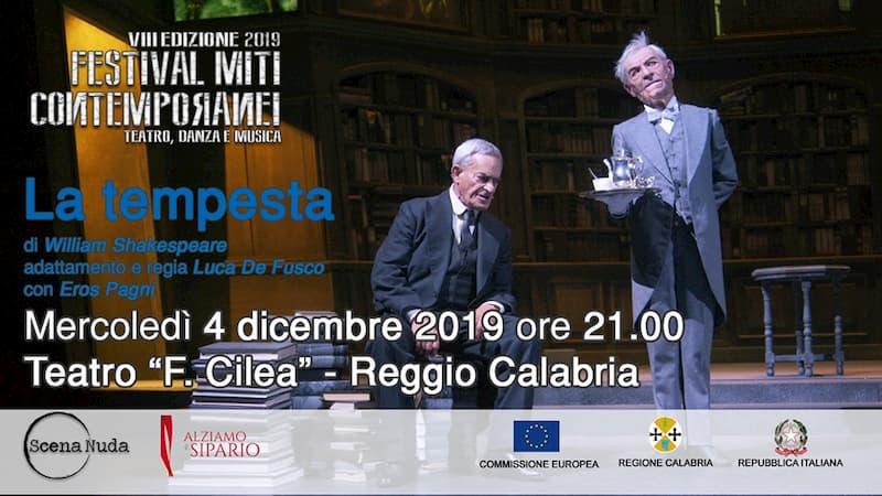 Teatro La tempesta 4 dicembre 2019 a Reggio Calabria locandina