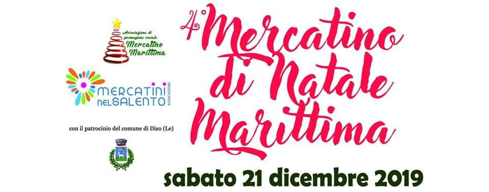 4° Mercatino di Natale Marittima 21 Dicembre 2019 a Marittima di Diso locandina