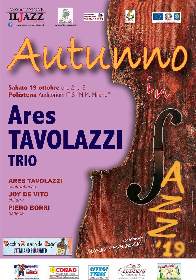 Autunno in Jazz Ares Tavolazzi Trio 19 Ottobre 2019 a Polistena locandina