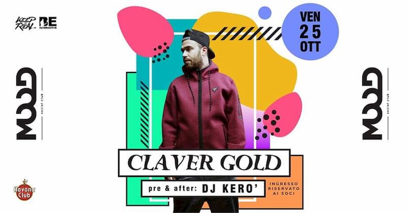Claver Gold • Lupo di Hokkaido Tour • Dj Kerò • Mood • Rende 25 Ottobre 2019 locandina