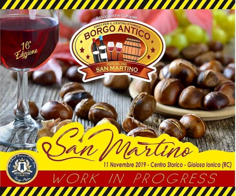 Festa Del Vino San Martino 11 Novembre 2019 a Gioiosa Ionica locandina