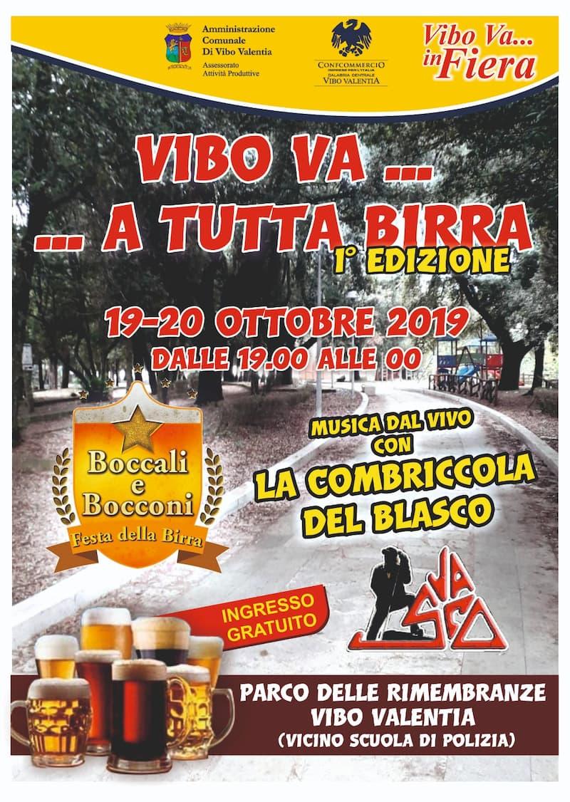 Festa della birra 19 e 20 Ottobre 2019 a Vibo Valentia locandina