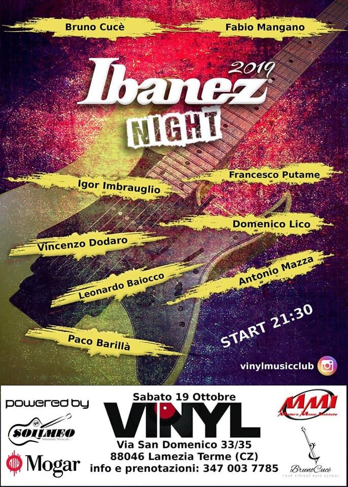 Ibanez NIGHT 2k19 19 Ottobre 2019 a Lamezia Terme locandina