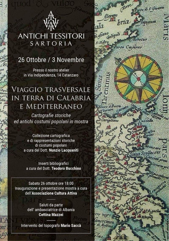 Mostra Viaggio trasversale in terra di Calabria e Mediterraneo dal 26 ottobre al 3 novembre a Catanzaro locandina
