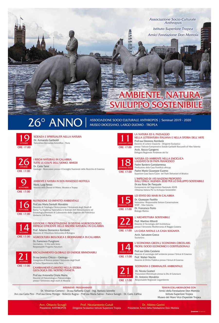 Programma seminari Associazione Anthropos Tropea 2019 - 2020 locandina