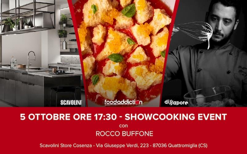 Rocco Buffone prepara un'insalata 5 ottobre 2019 a Cosenza