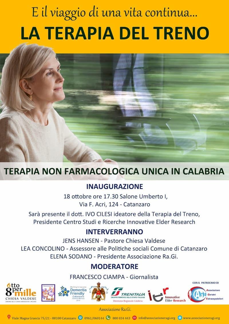 Terapia del treno 18 Ottobre 2019 a Catanzaro locandina