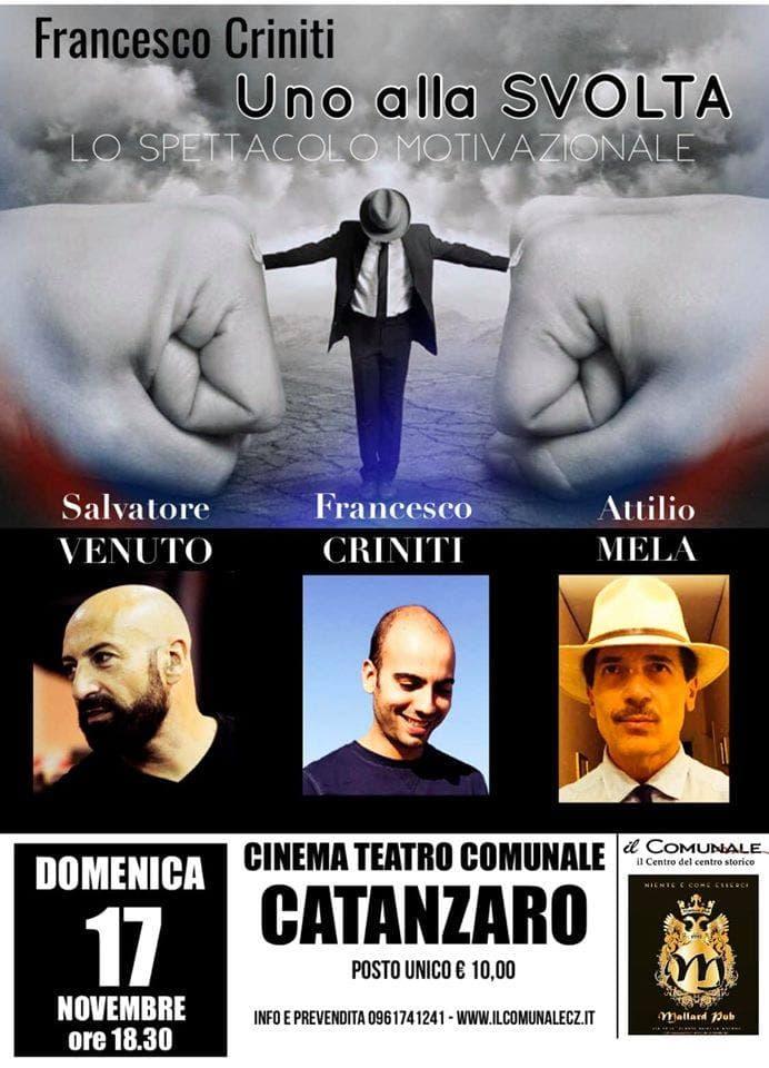Uno Alla Svolta 17 Novembre 2019 a Catanzaro locandina