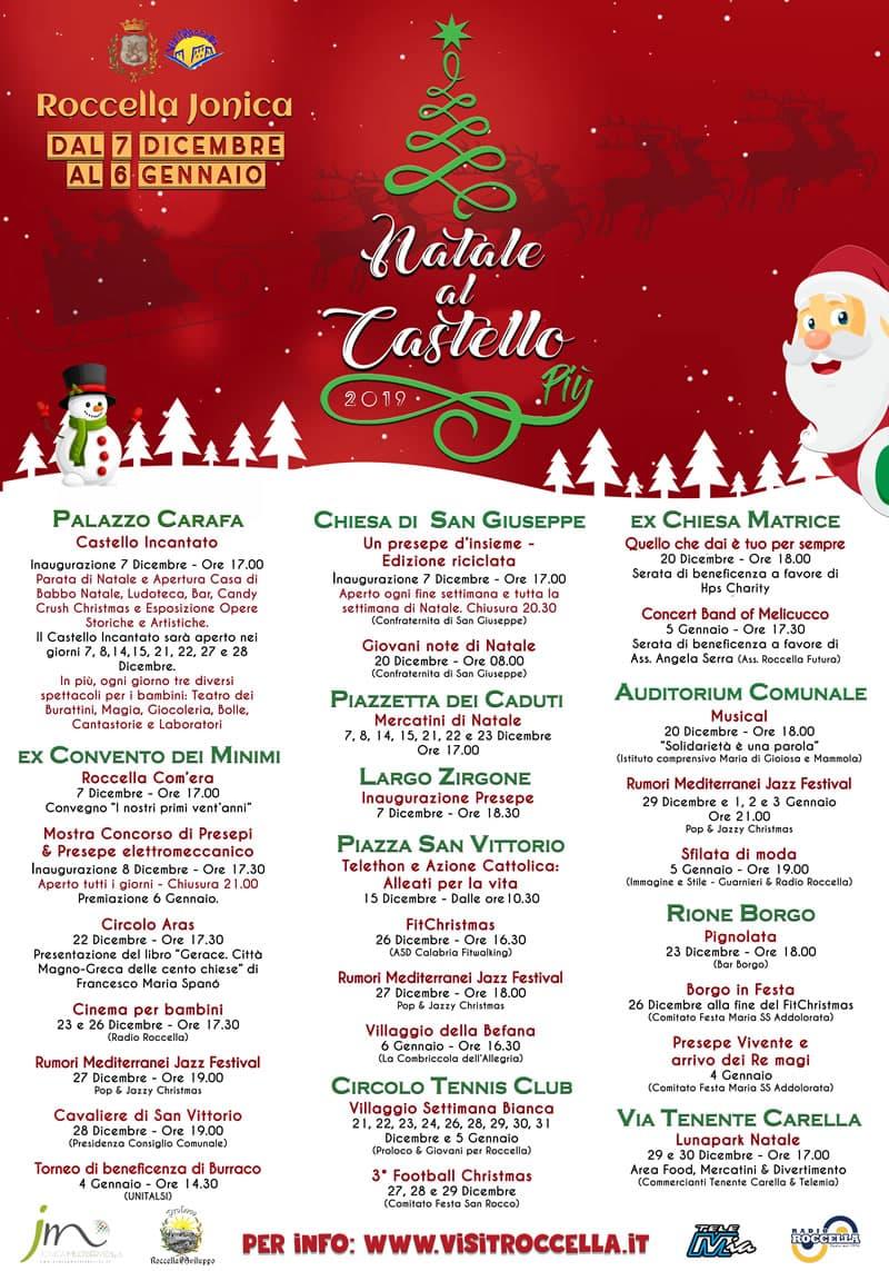 3° Natale al Castello Più 2019 a Roccella Jonica locandina