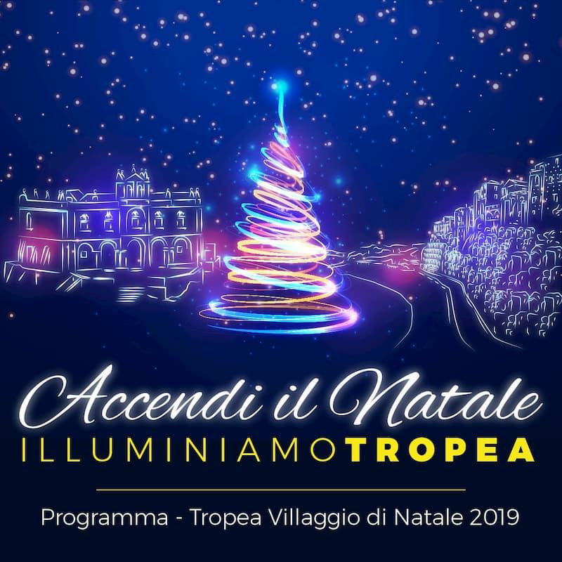 Accendi il Natale Illuminiamo Tropea 2019 - 2020 locandina