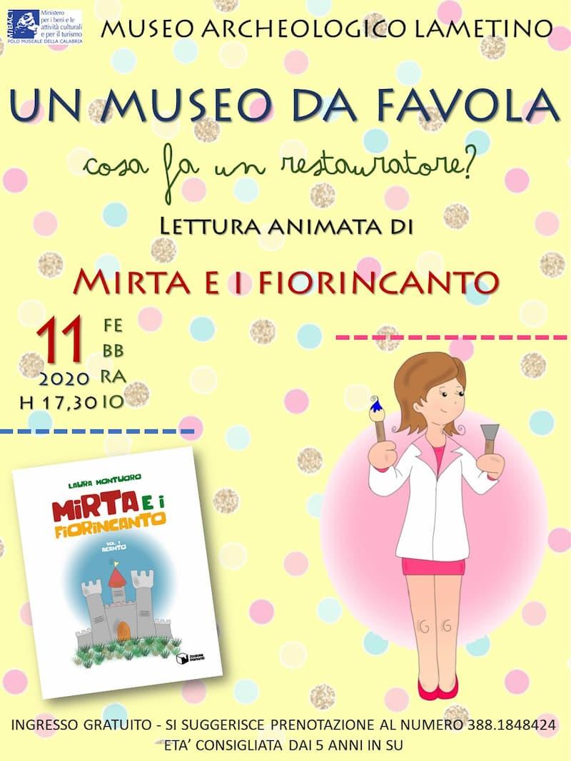 Museo Archeologico Lametino Un Museo da favola 11 Febbraio 2020 locandina