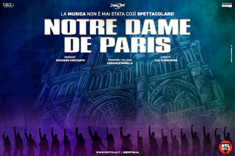 Notre Dame de Paris a Bari 10 11 12 dicembre 2019 locandina