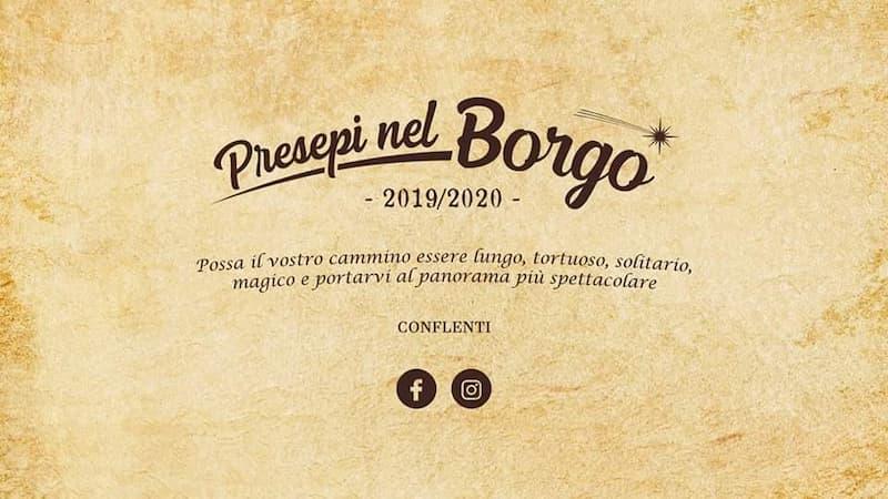 Presepi Nel Borgo 2019 - 2020 a Conflenti locandina