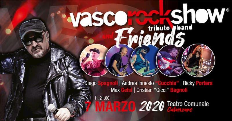 Vasco Rock Show & Friends 7 marzo 2020 a Catanzaro locandina