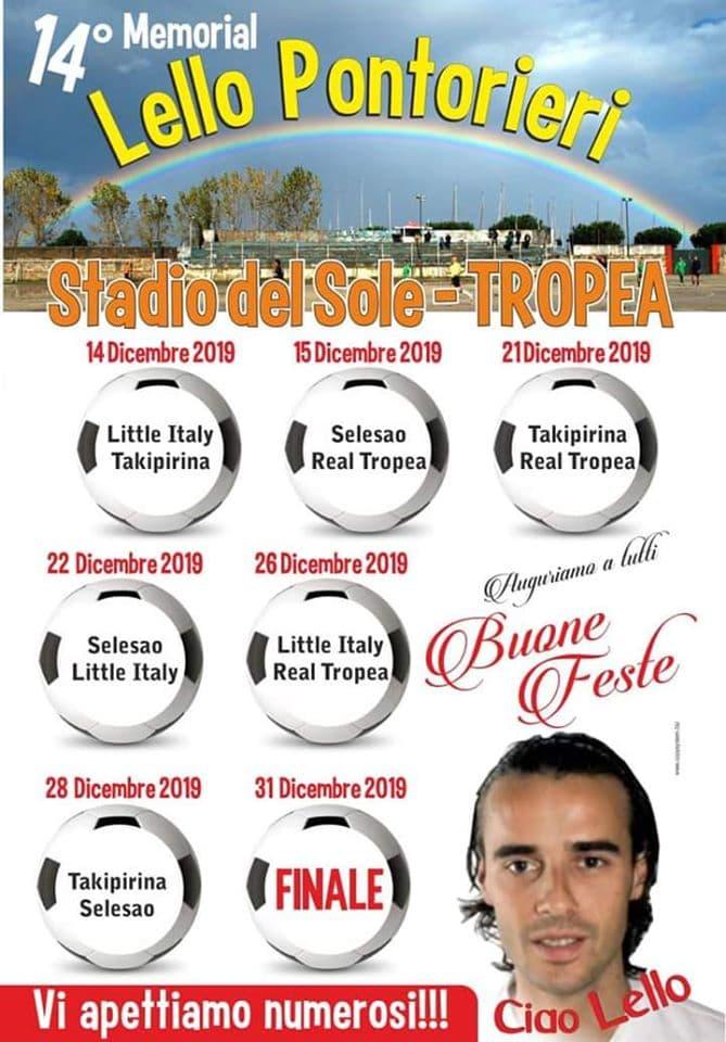 14° Torneo Lello Pontorieri, dal 14 al 31 Dicembre 2019 a Tropea locandina