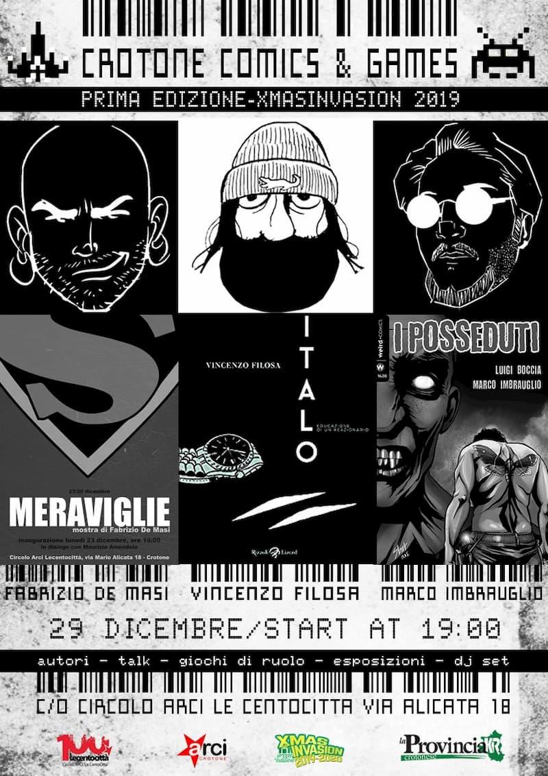 Crotone comics & games 29 Dicembre 2019 a Crotone locandina