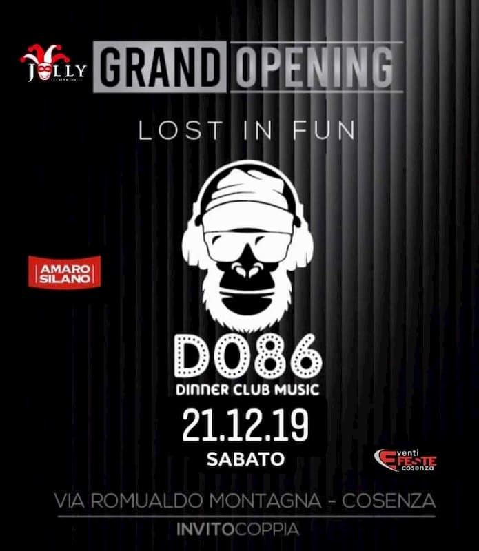 D086 dinner club music - La Regina delle tue notti è arrivata 21 dicembre 2019 a Cosenza locandina