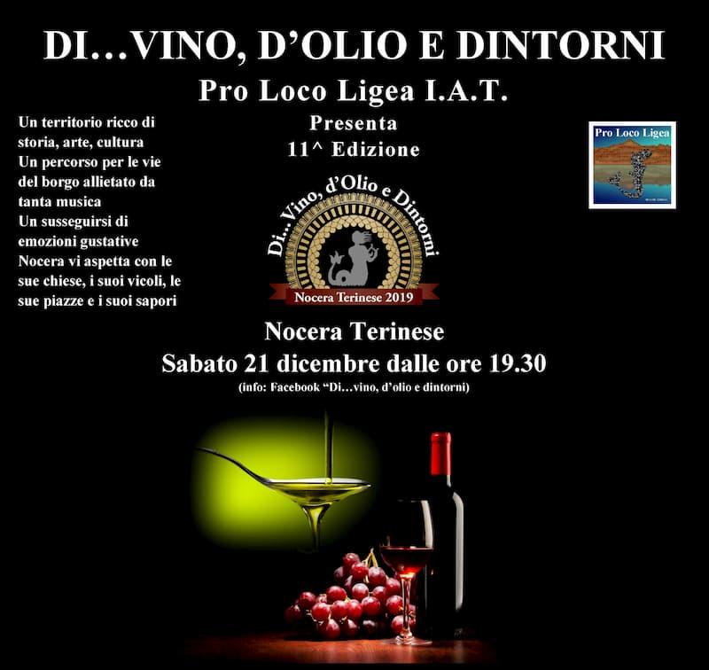 Di vino, d'olio e dintorni 11° Edizione 21 Dicembre 2019 a Nocera Terinese locandina