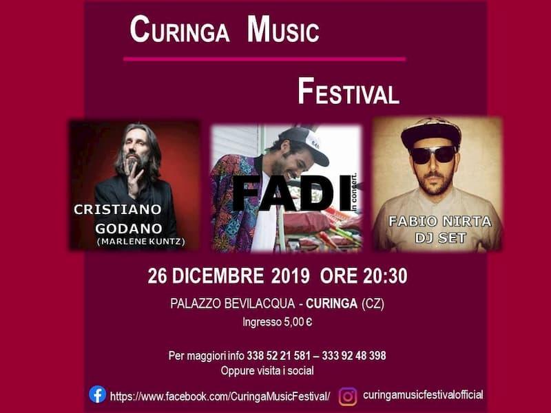 Locandina Curinga Music Festival sessione invernale 2019